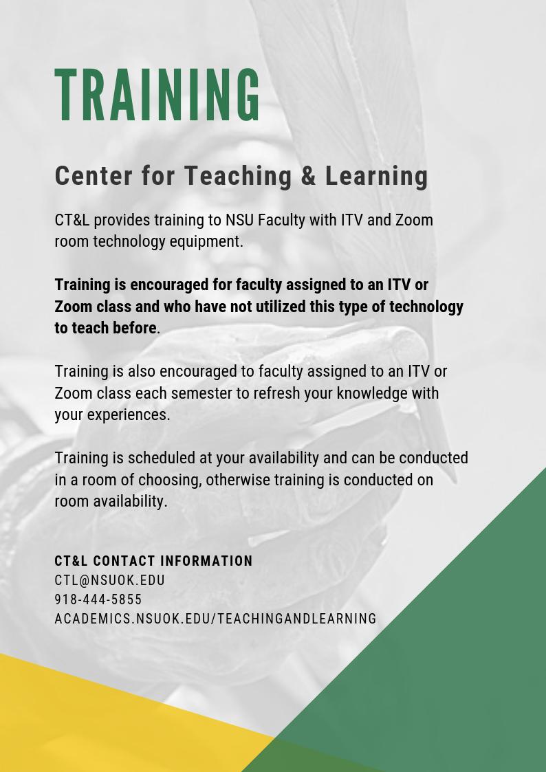 Training - Center for Teaching & Learning