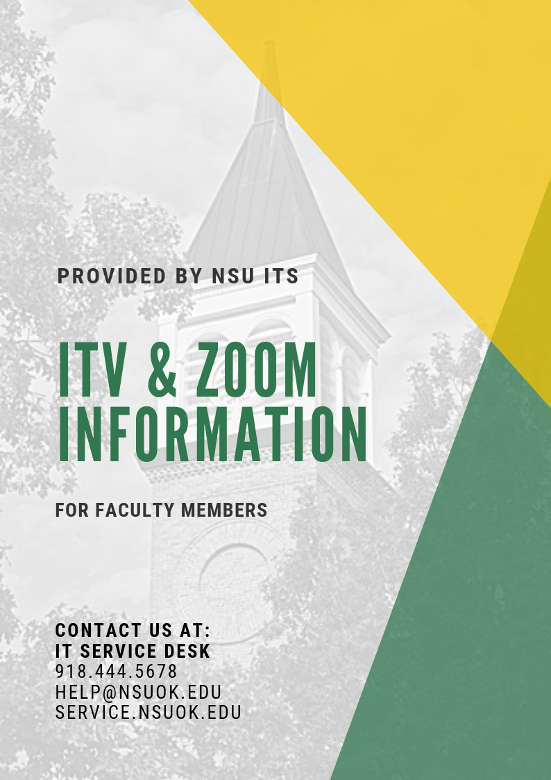 ITV & Zoom Information for Faculty Members