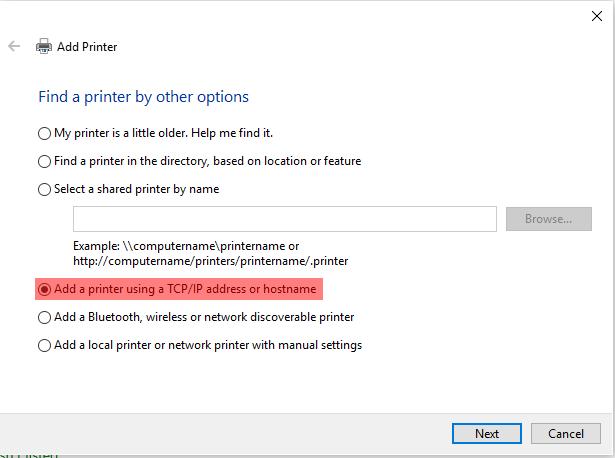 Adding a Network Printer via TCPIP - Screenshot (3)