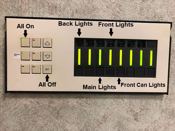 Light Panel with labeled buttons