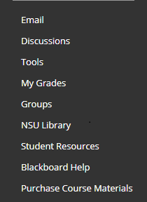 Image showing the options listed in the left resources panel