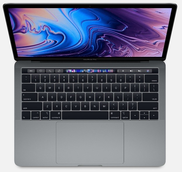 Picture that shows a MacbookPro 13-inch