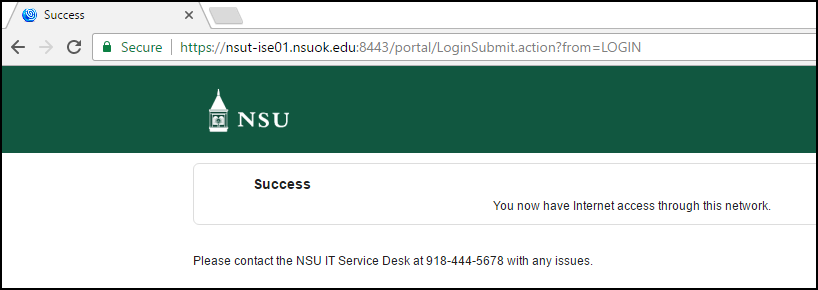 A picture that shows the successful device registration page