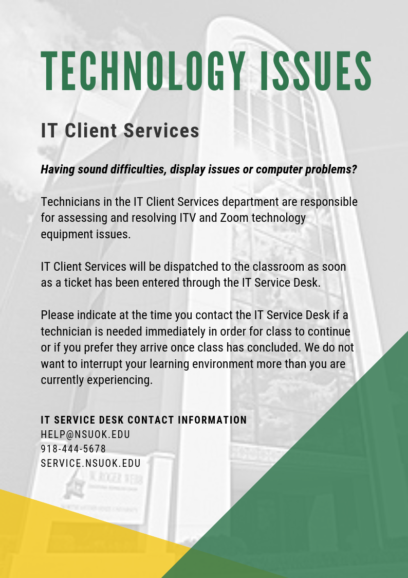 Technology Issues - IT Client Services