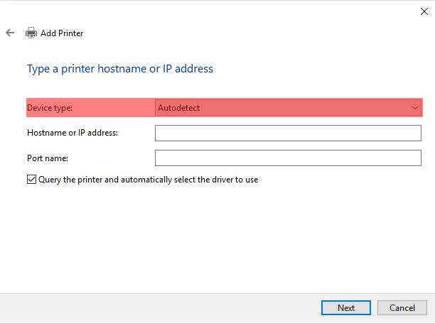 Adding a Network Printer via TCPIP - Screenshot (4)